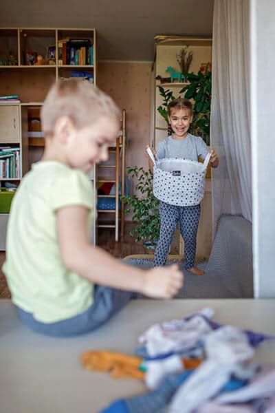Kids cleaning routine