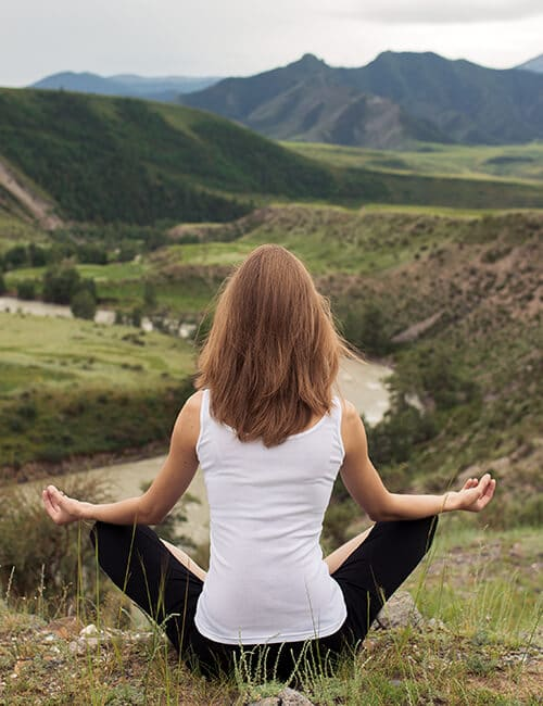 Young Woman Outdoor Meditation